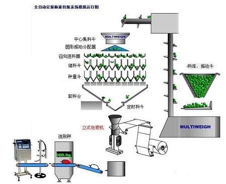 多功能食品称重包装机运行原理